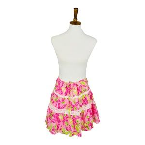Lilly Pulitzer Peasant Mini Skirt Size S